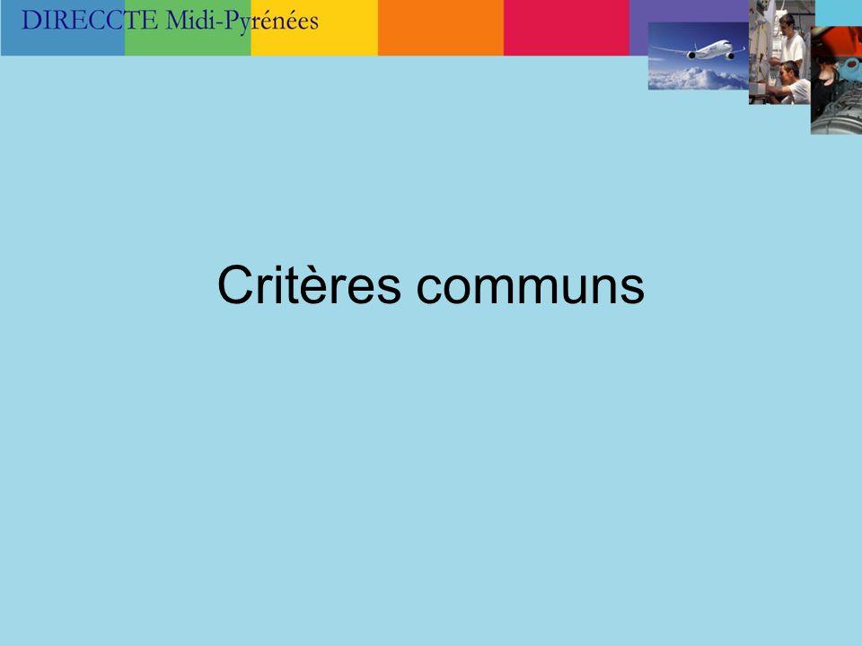 Critères communs