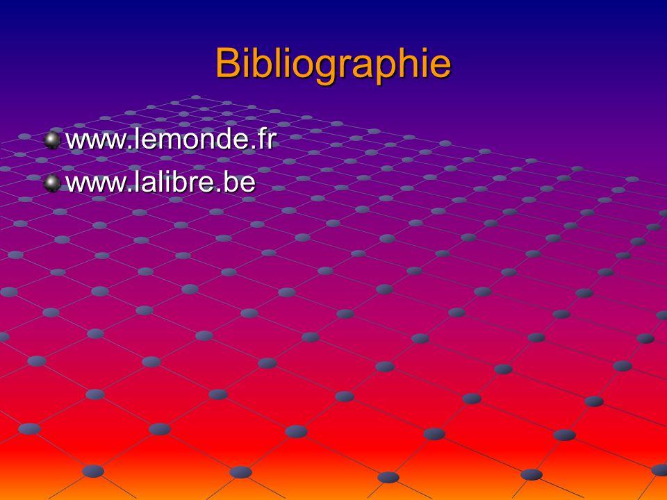 Bibliographie www.lemonde.frwww.lalibre.be
