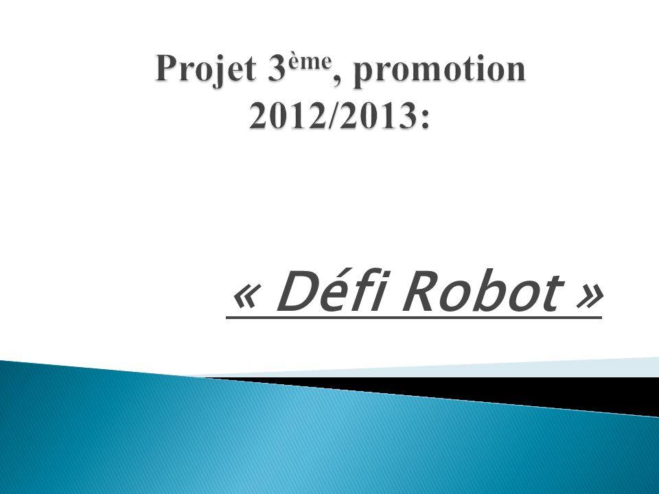 Rassembler plusieurs collèges autour dun projet commun en lien avec la robotique