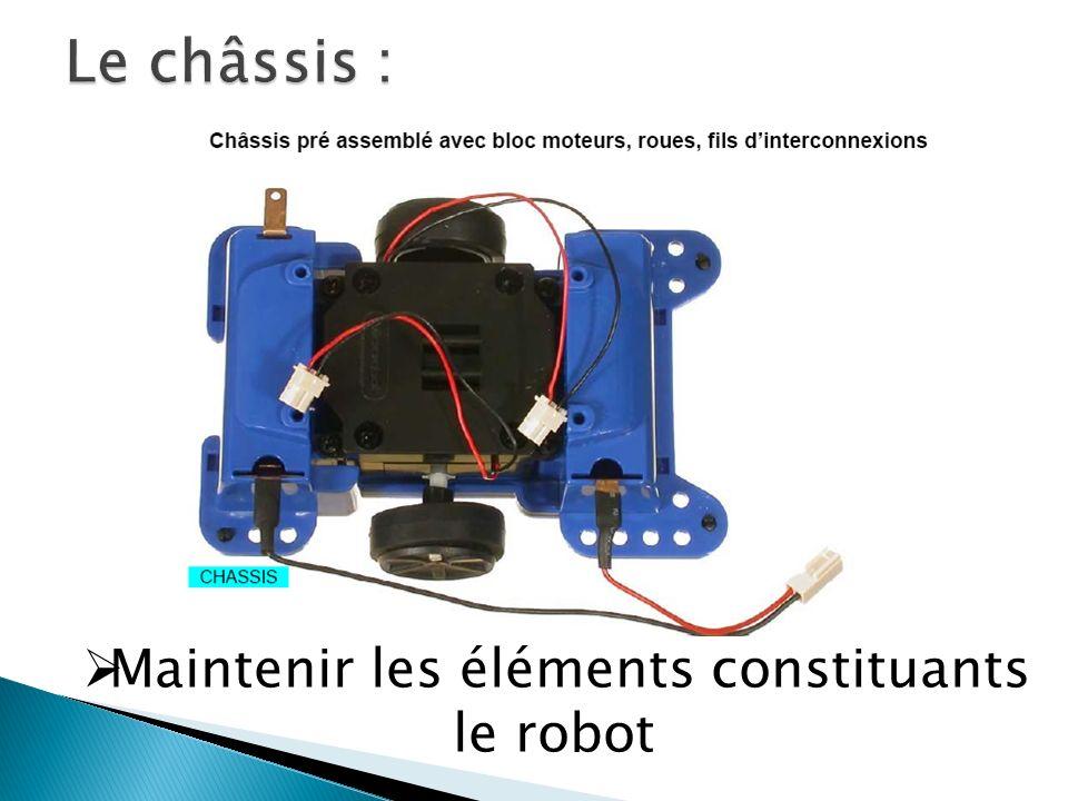 Maintenir les éléments constituants le robot