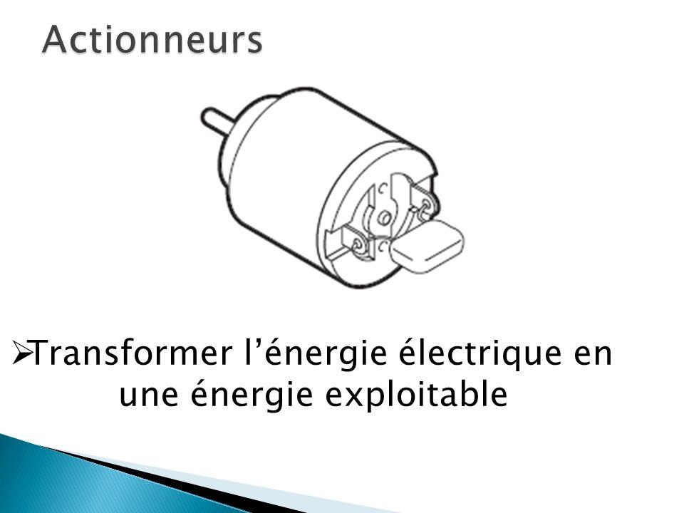 Transformer lénergie électrique en une énergie exploitable