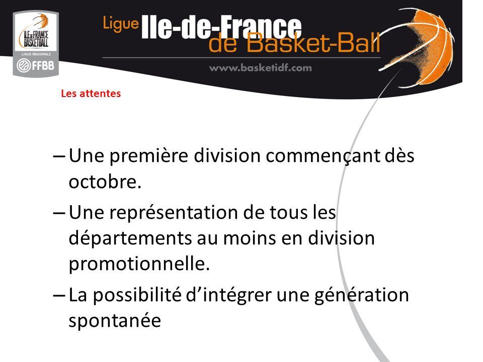 La formule proposée Deux divisions - Première division dite ELITE - Seconde division dite PROMOTIONNELLE