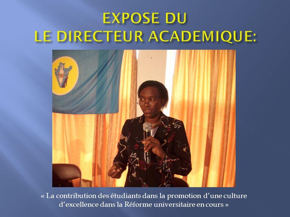 « La contribution des étudiants dans la promotion dune culture dexcellence dans la Réforme universitaire en cours »