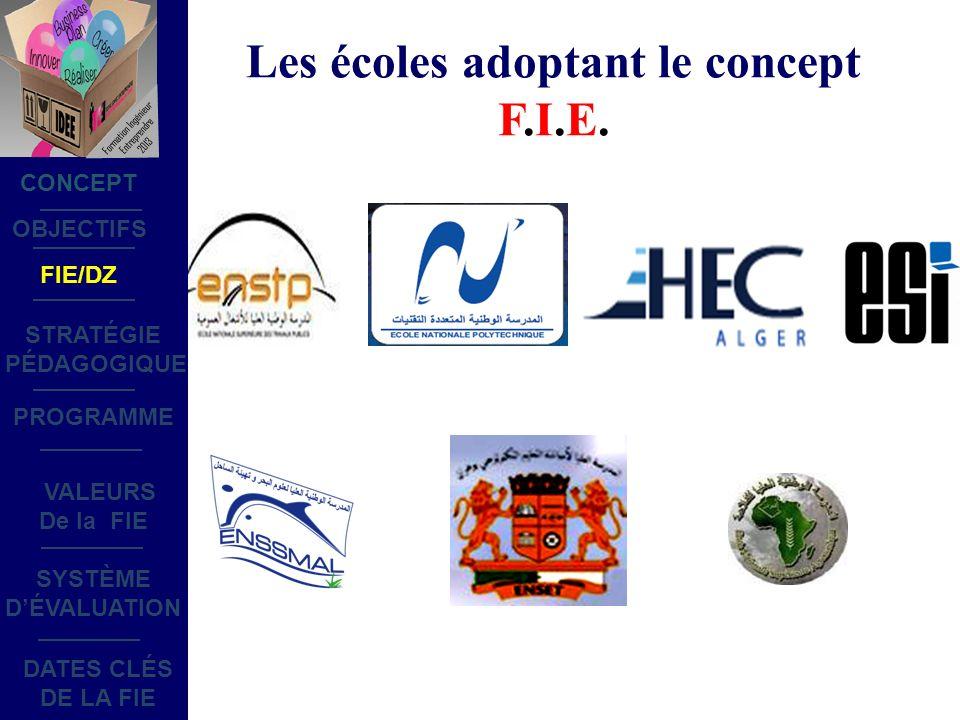 Les écoles adoptant le concept F.I.E.
