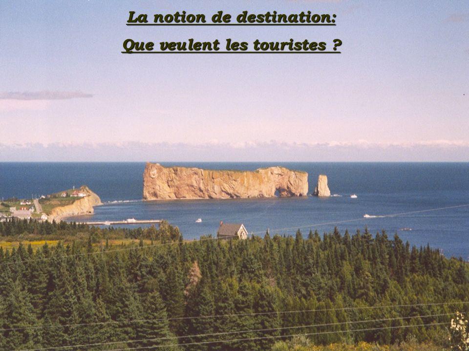 La notion de destination: Que veulent les touristes ?