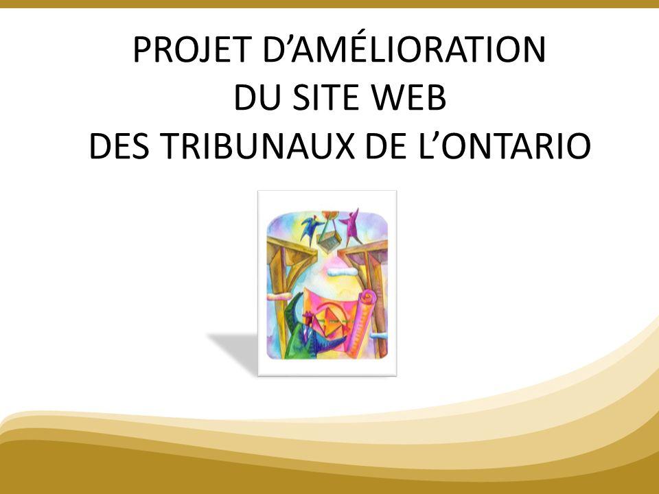 PROJET DAMÉLIORATION DU SITE WEB DES TRIBUNAUX DE LONTARIO