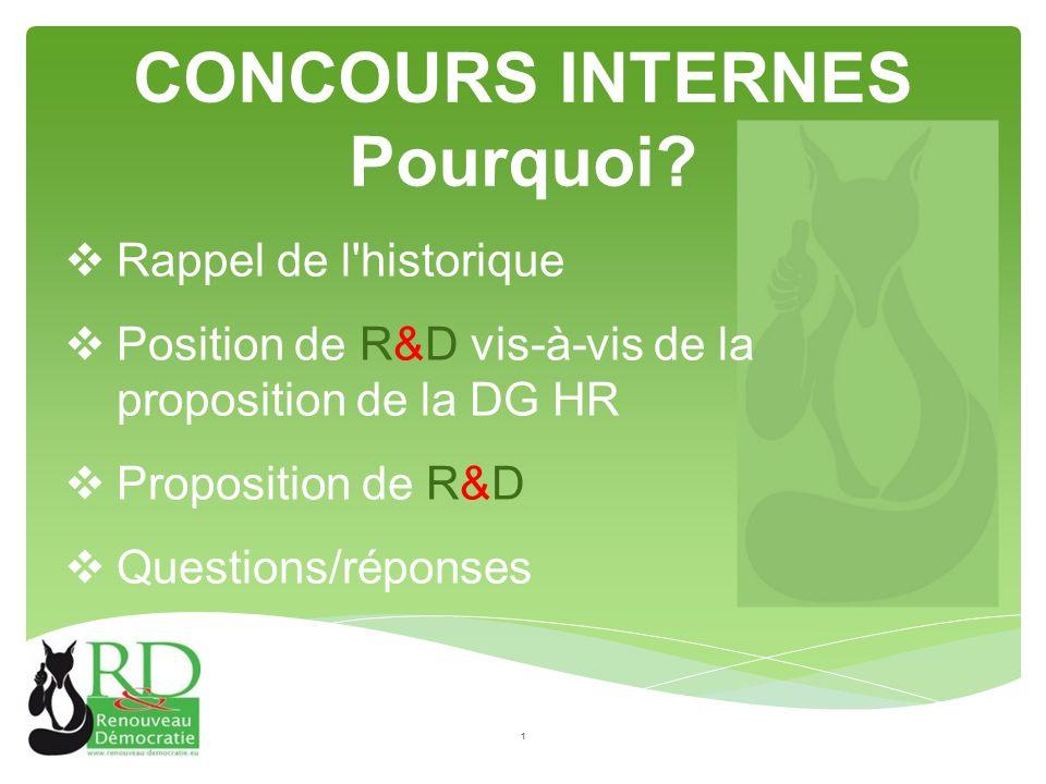 CONCOURS INTERNES Pourquoi.