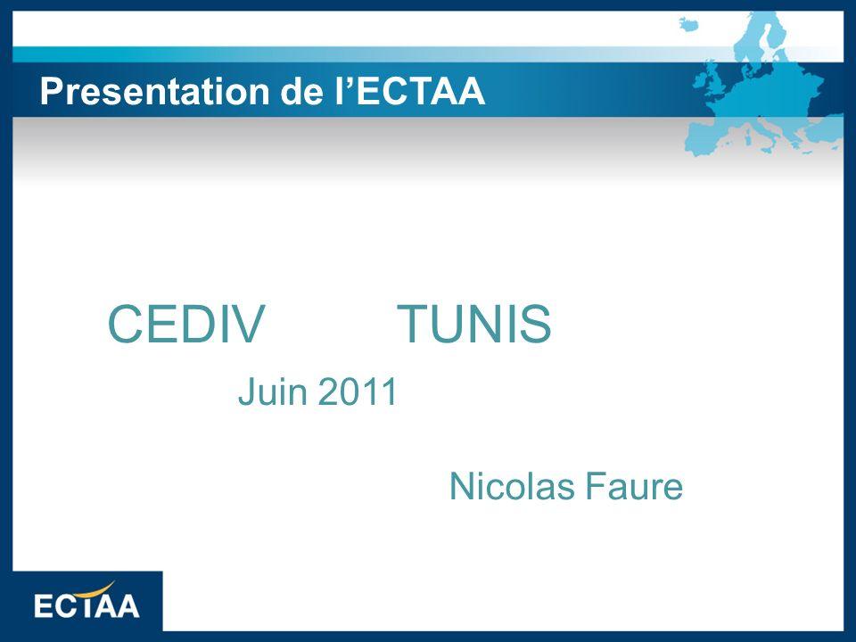 Presentation de lECTAA CEDIV TUNIS Juin 2011 Nicolas Faure