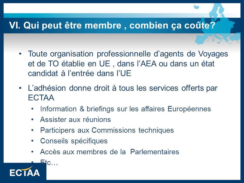 Toute organisation professionnelle dagents de Voyages et de TO établie en UE, dans lAEA ou dans un état candidat à lentrée dans lUE Ladhésion donne dr