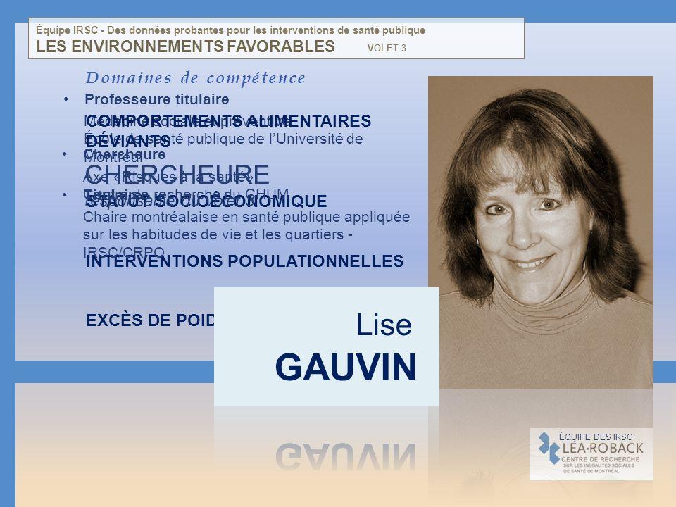 Médecine sociale et préventive École de santé publique de lUniversité de Montréal Domaines de compétence COMPORTEMENTS ALIMENTAIRES DÉVIANTS STATUT SO