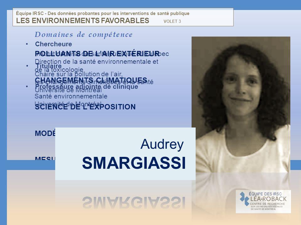 Institut national de santé publique du Québec Direction de la santé environnementale et de la toxicologie Domaines de compétence POLLUANTS DE LAIR EXT