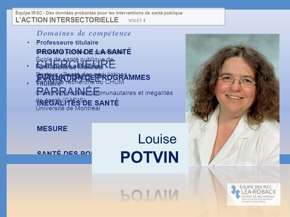 Médecine sociale et préventive École de santé publique de lUniversité de Montréal Domaines de compétence PROMOTION DE LA SANTÉ ÉVALUATION DE PROGRAMME