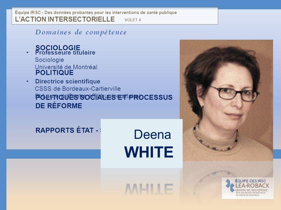 Domaines de compétence SOCIOLOGIE POLITIQUE POLITIQUES SOCIALES ET PROCESSUS DE RÉFORME RAPPORTS ÉTAT - SOCIÉTÉ CIVILE RÉGULATION SOCIOPOLITIQUE DES G