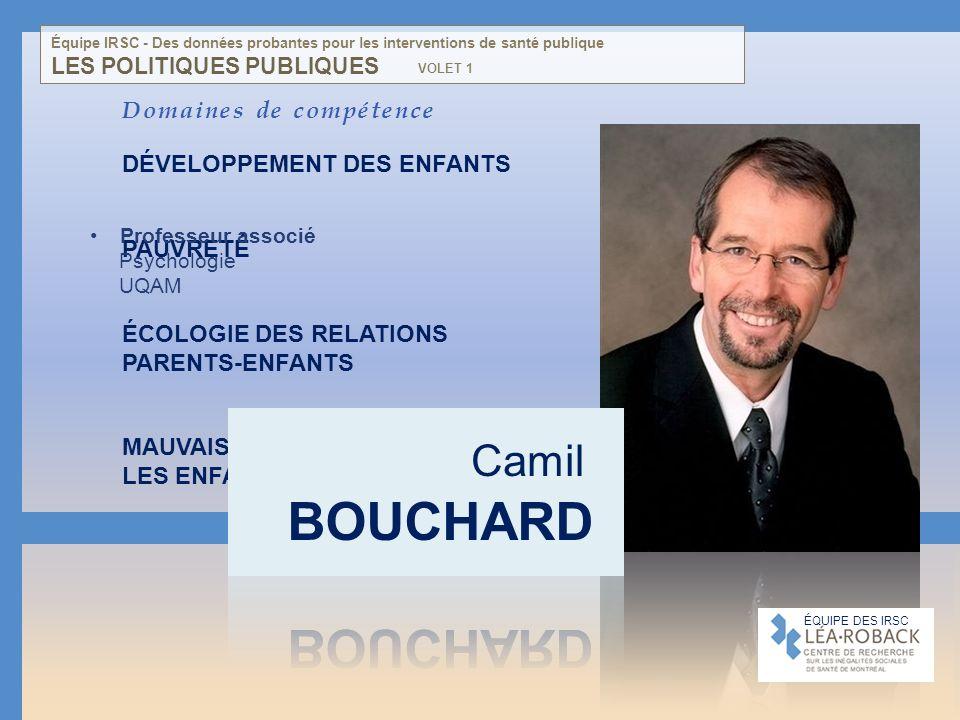 Domaines de compétence DÉVELOPPEMENT DES ENFANTS PAUVRETÉ ÉCOLOGIE DES RELATIONS PARENTS-ENFANTS MAUVAIS TRAITEMENTS ENVERS LES ENFANTS POLITIQUES PUB