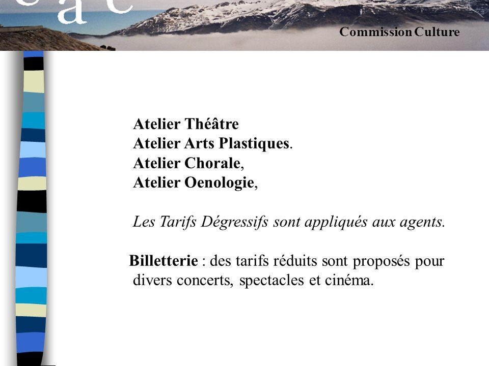 Atelier Théâtre Atelier Arts Plastiques.