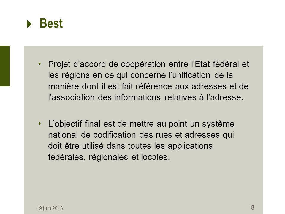 Best Projet daccord de coopération entre lEtat fédéral et les régions en ce qui concerne lunification de la manière dont il est fait référence aux adresses et de lassociation des informations relatives à ladresse.