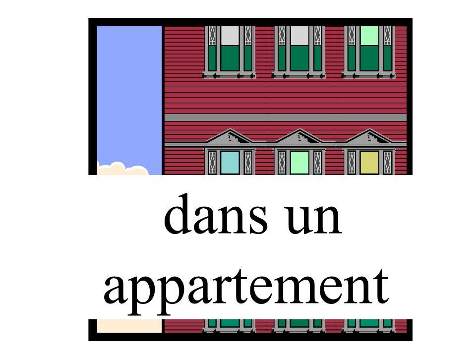 dans un appartement