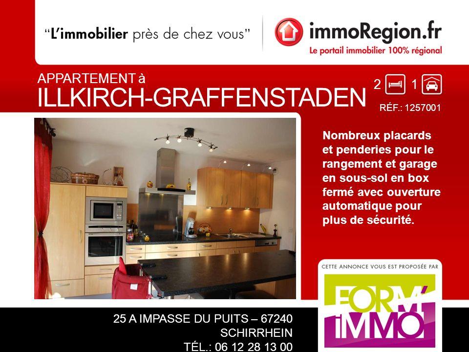 32 Venez découvrir sans tarder ce superbe appartement au centre de Illkirch, rare et très prisé dans ce beau quartier.