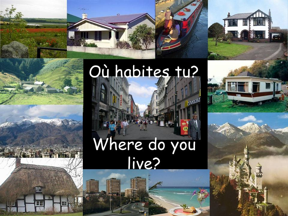 Où habites tu Where do you live