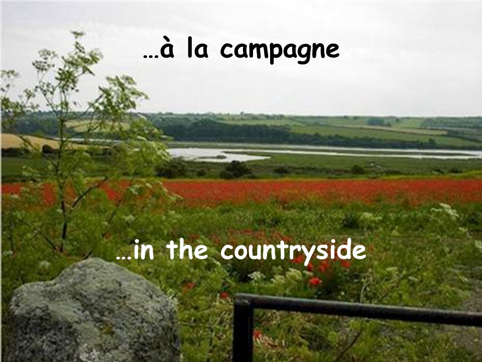 …à la campagne …in the countryside