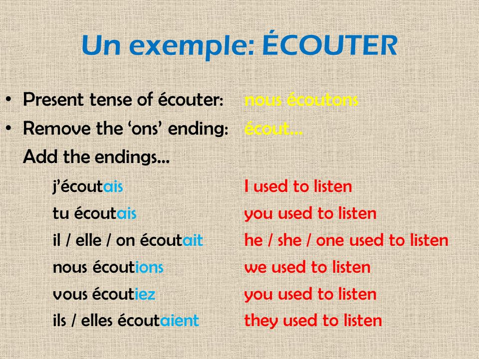 IRREGULAR VERBS The stem of irregular verbs changes but the endings stay the same: The stem of être (to be) is ét… Verbs like manger or ranger take an extra e in the nous form.