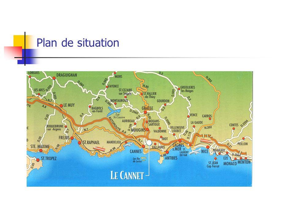 Plan de situation 25, Chemin de lAubarède 06000 Le Cannet Autoroute A8