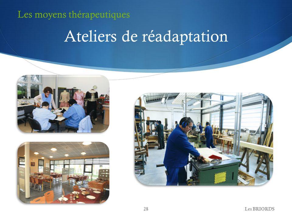 Les BRIORDS28 Ateliers de réadaptation Les moyens thérapeutiques
