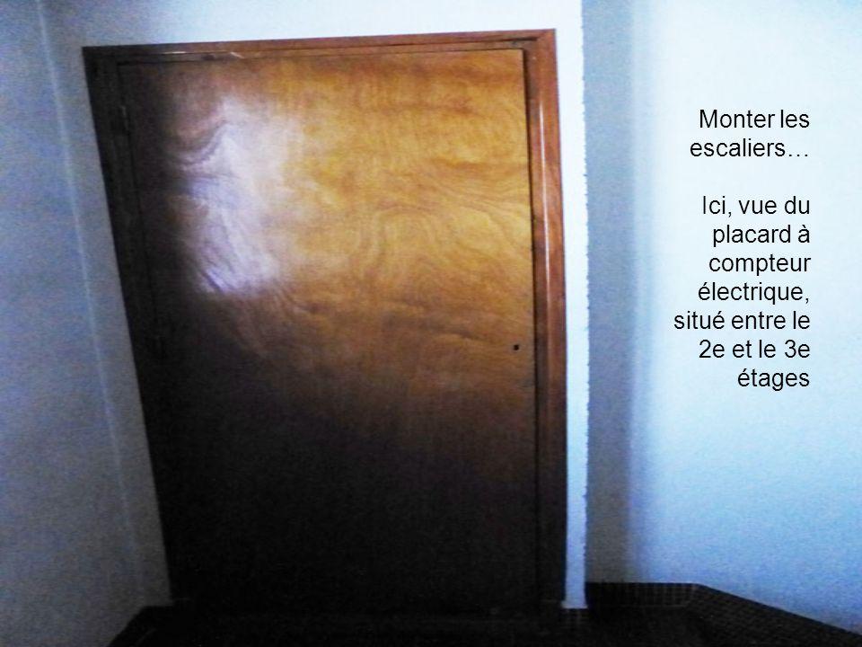 Monter les escaliers… Ici, vue du placard à compteur électrique, situé entre le 2e et le 3e étages