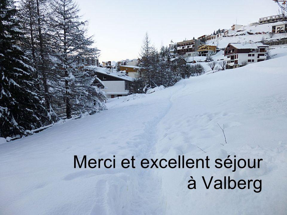 Merci et excellent séjour à Valberg