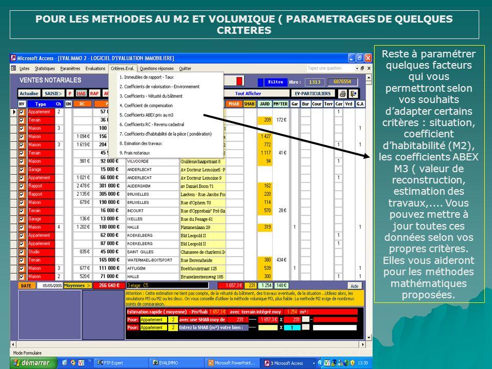 AFFICHAGE DU RAPPORT DEVALUATION ( EVALIMMO 2) Après avoir cliquez sur AFFICHAGE DU RAPPORT DEVALUATION, le rapport type saffiche avec un photo princi