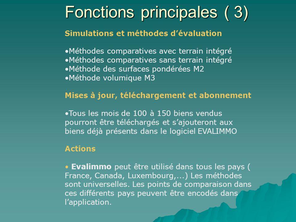 Paramétrage des critères dévaluation ( coefficients de pondération, de situation, ABEX prix au m3 – valeur de reconstruction, …) Estimation des travau