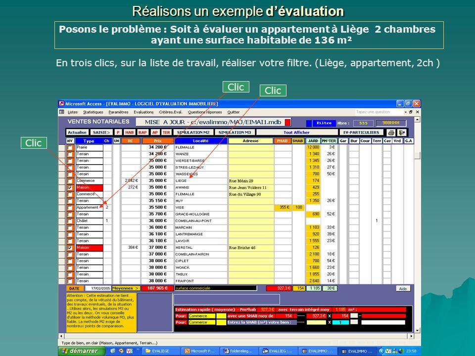 LISTES DES BIENS VENDUS ( fiches complètes) Le bouton « Statistiques » affiche la liste générale de tous les biens vendus présents dans la base de données.