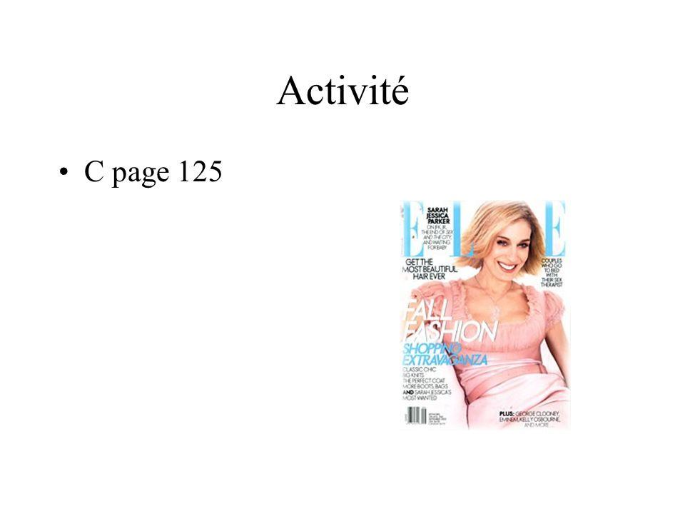 Activité C page 125