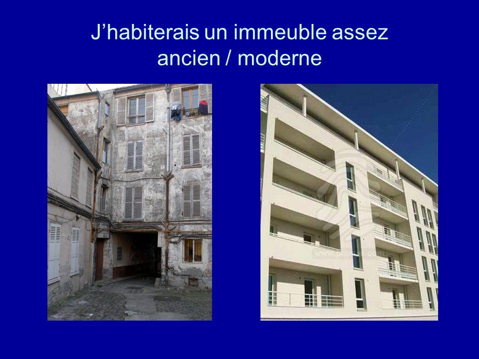 Jhabiterais un immeuble assez ancien / moderne