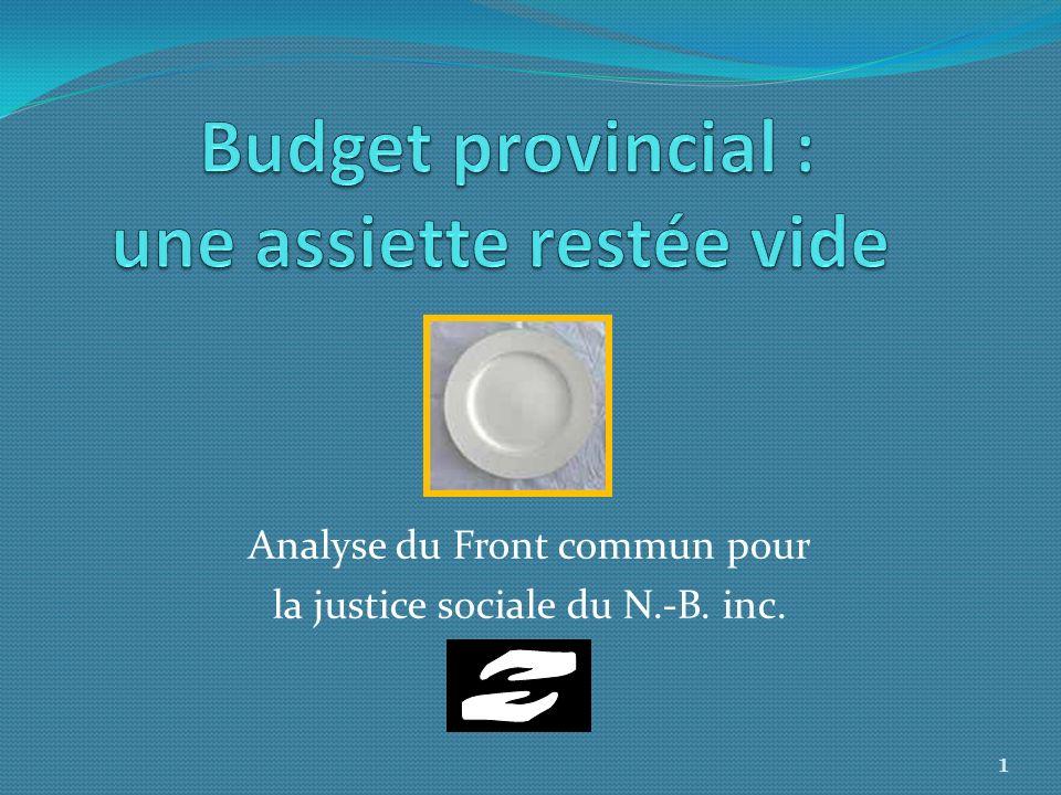 Analyse du Front commun pour la justice sociale du N.-B. inc. 1