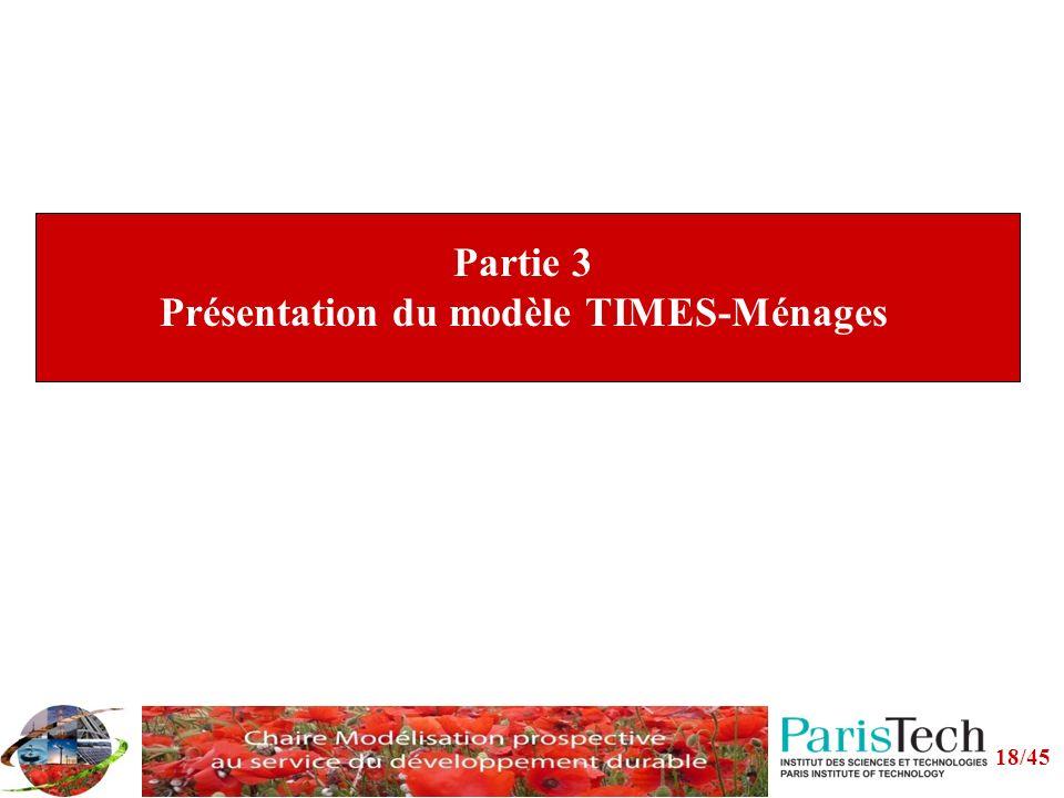 Partie 3 Présentation du modèle TIMES-Ménages 18/45
