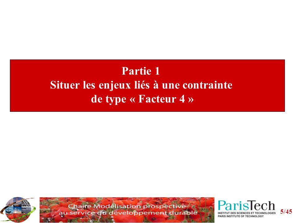 5/45 Partie 1 Situer les enjeux liés à une contrainte de type « Facteur 4 »