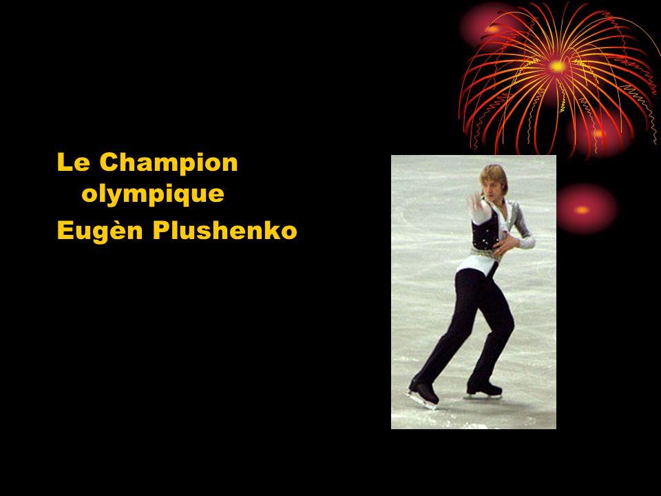 Le Champion olympique Eugèn Plushenko