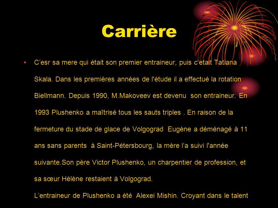 Carrière Cesr sa mere qui était son premier entraineur, puis cetait Tatiana Skala.