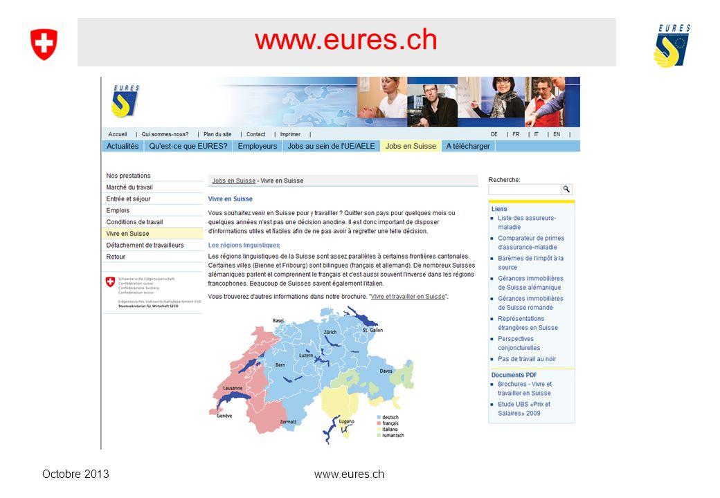 www.eures.ch Octobre 2013