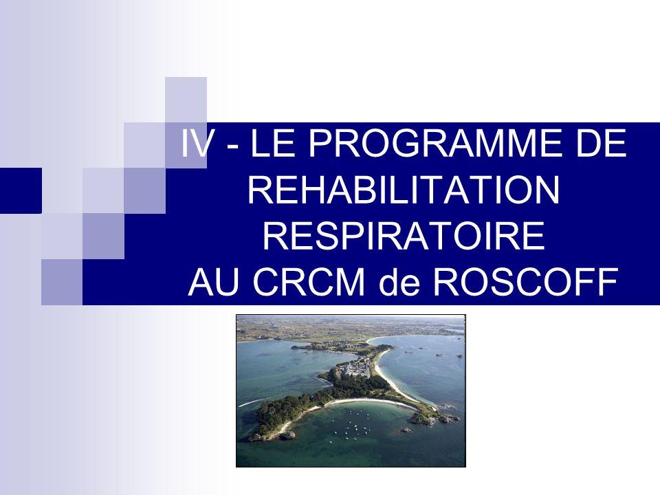IV - LE PROGRAMME DE REHABILITATION RESPIRATOIRE AU CRCM de ROSCOFF