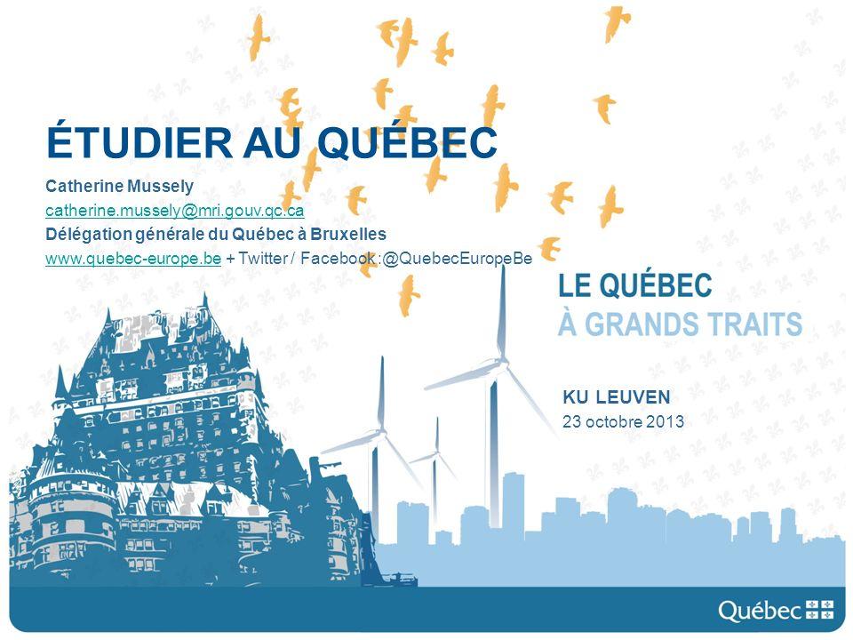 Présentation daujourdhui Le Québec Étudier au Québec, les avantages Le système denseignement au Québec Les universités et les programmes Les bourses et les aides financières Étudier au Québec, le mode demploi Étudier au Québec