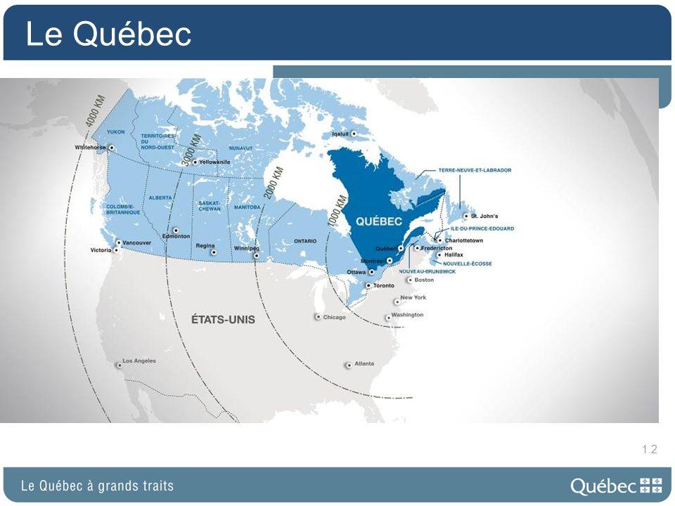 La population une société plurielle 8 000 000 habitants 77 % dascendance française 5 % dascendance britannique 1 % dAutochtones 17 % dascendances diverses