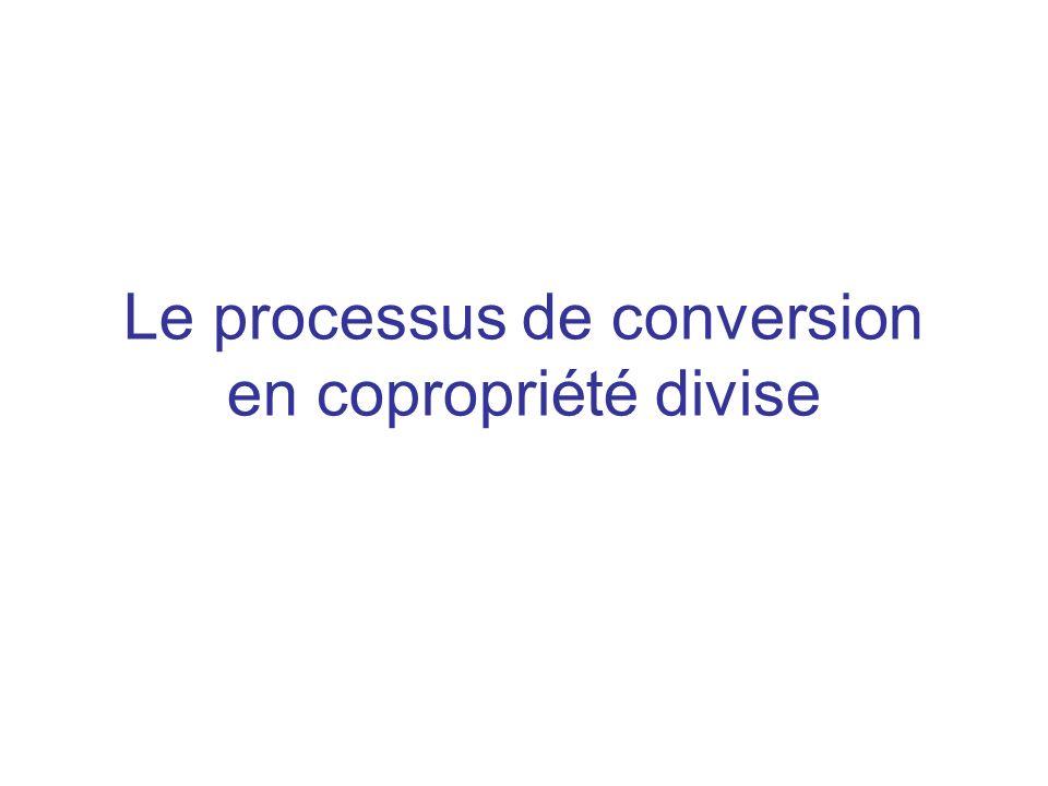 Le processus de conversion en copropriété divise