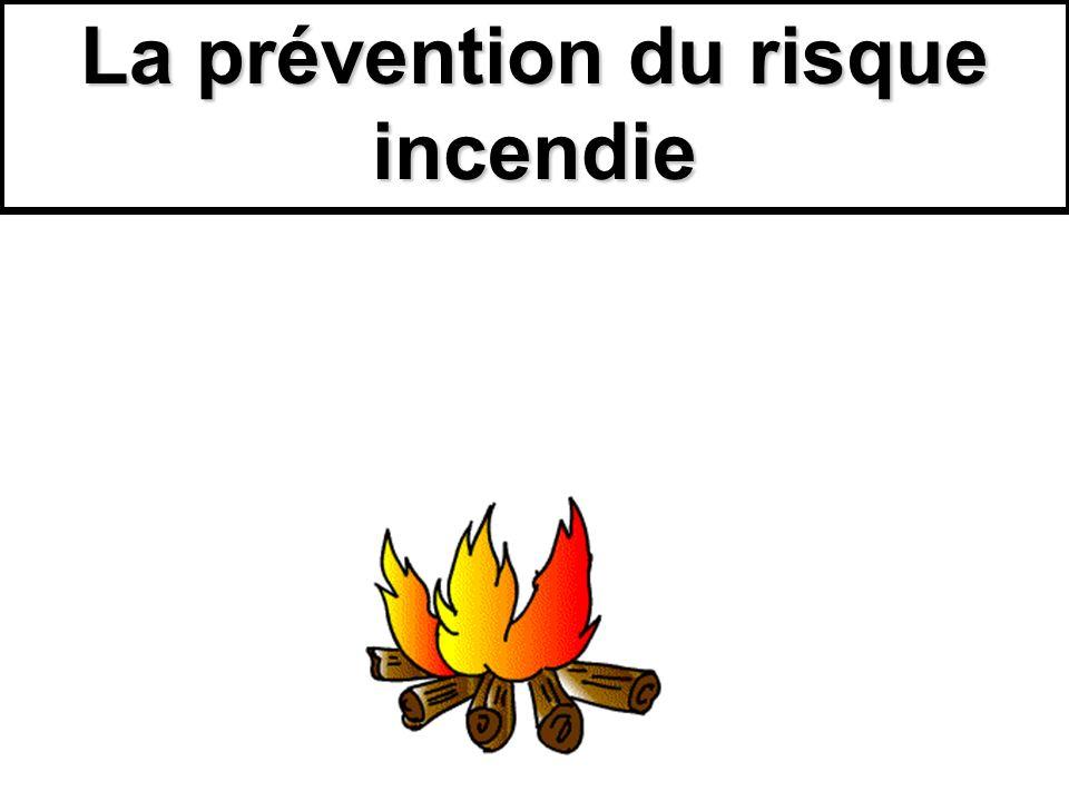 I)Prévenir la naissance dun feu cest en connaître les causes.