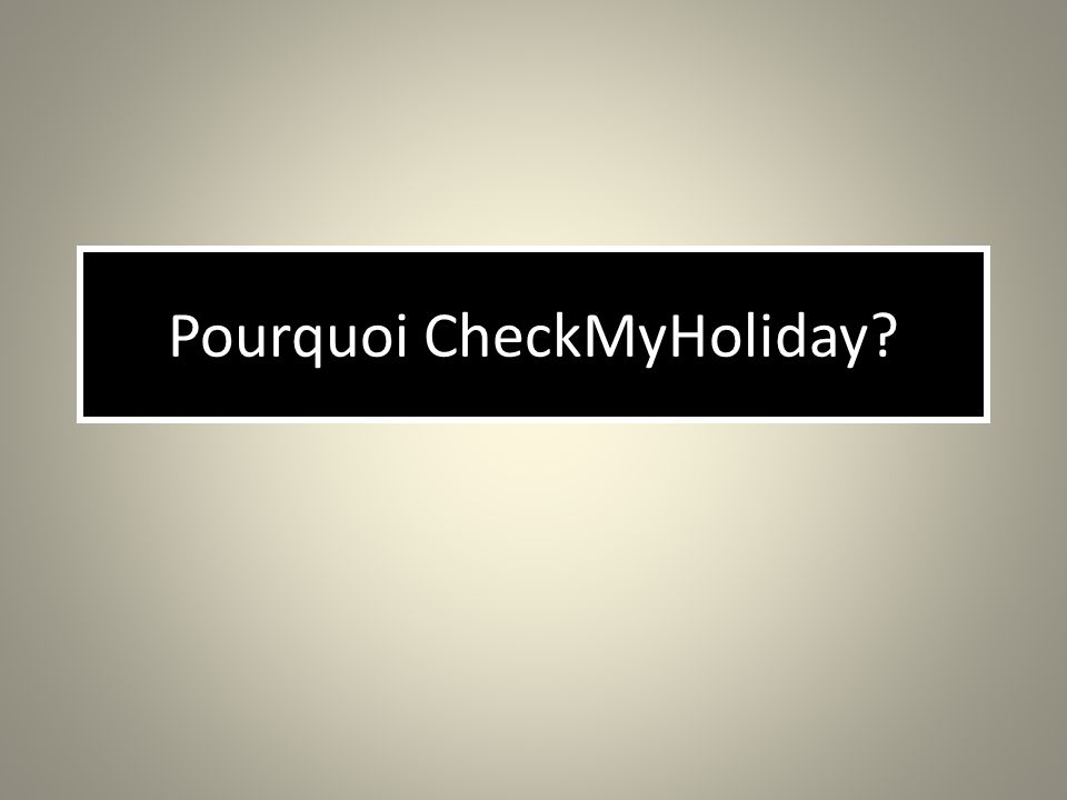 www.checkmyholiday.com