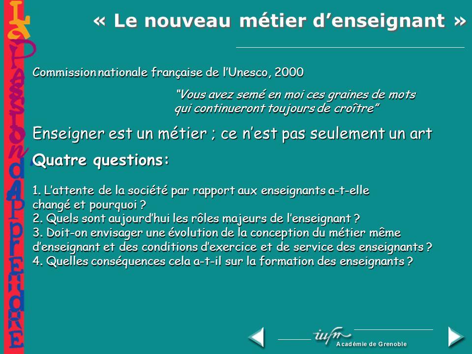« Le nouveau métier denseignant » (Paris, 2000)