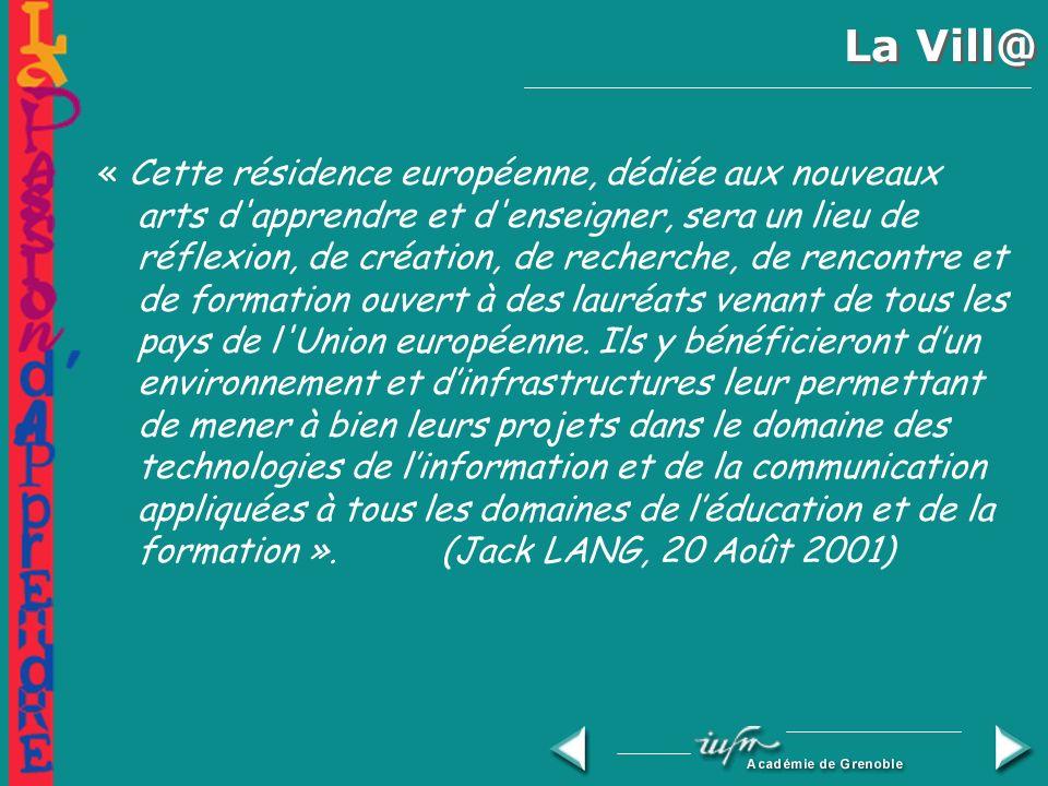 La Vill@ Résidence européenne du multimédia éducatif Grenoble