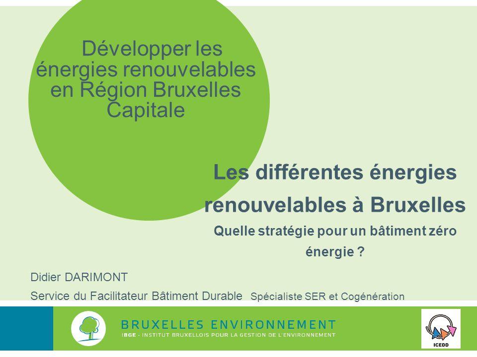 Les différentes énergies renouvelables à Bruxelles Quelle stratégie pour un bâtiment zéro énergie .