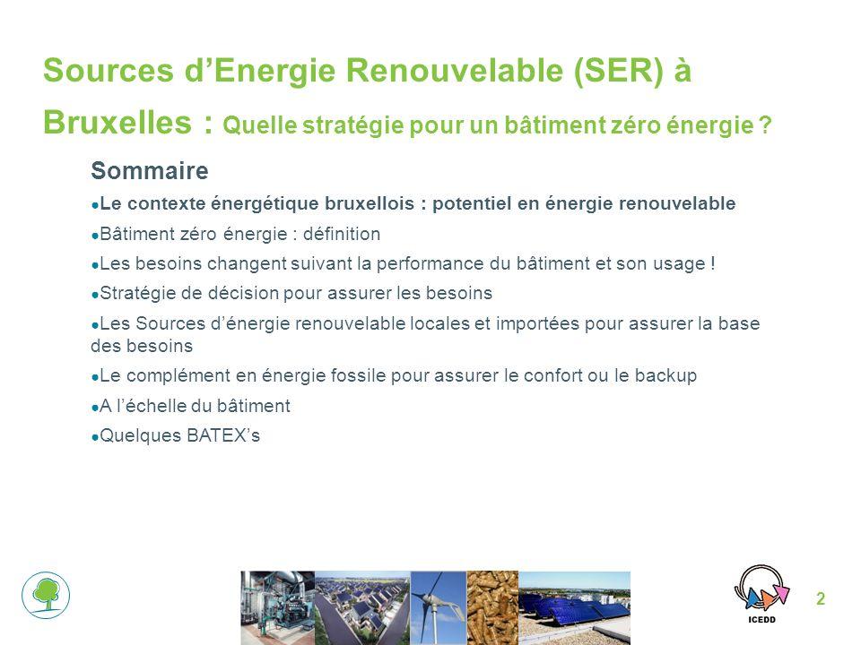2 Sources dEnergie Renouvelable (SER) à Bruxelles : Quelle stratégie pour un bâtiment zéro énergie .